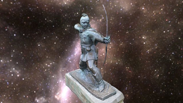 Robin Hood Statue 3D Model