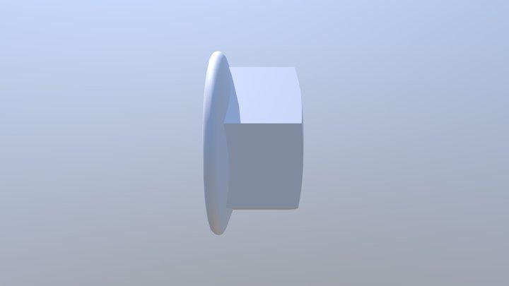 DIN 6923 Hexagon Nut 3D Model