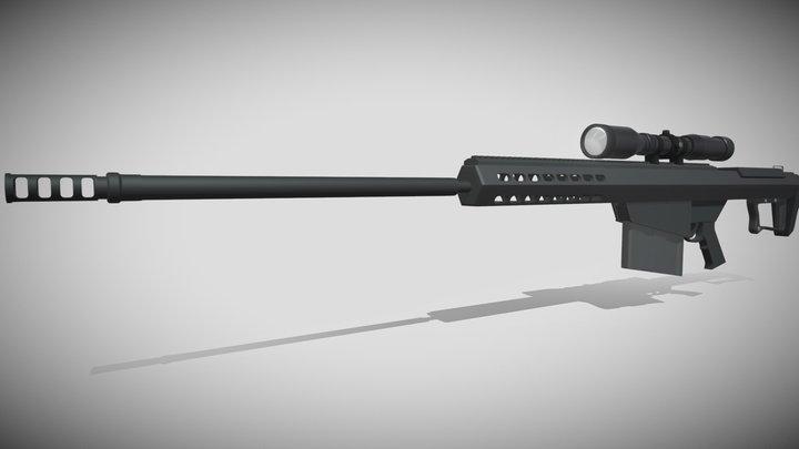 Barrett .50 Cal Sniper-Rifle 3D Model
