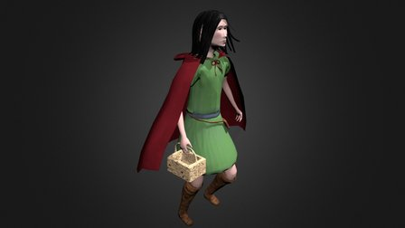Red Riding Hood 3D Model