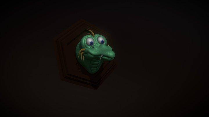 SculptJanuary18 - Day 26: Creature (Dragon) 3D Model