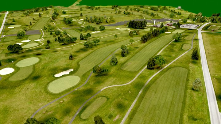 Moccasin Run Golf Course 3D Model