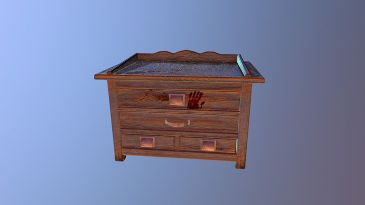 Low Poly Table 3D Model