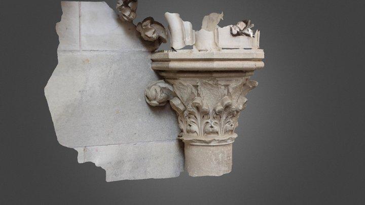 Capitel Exterior Catedral De Cuenca 3D Model