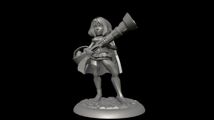 METYLDA THE RED RIDING HOOD 3D Model