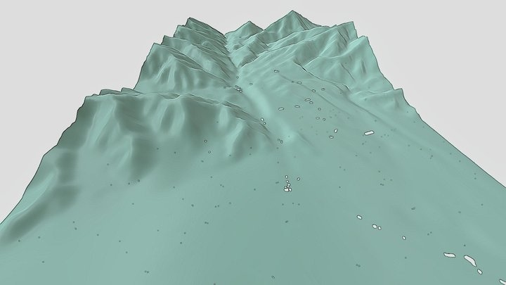 穂高F9号墳が位置する地形 3D Model