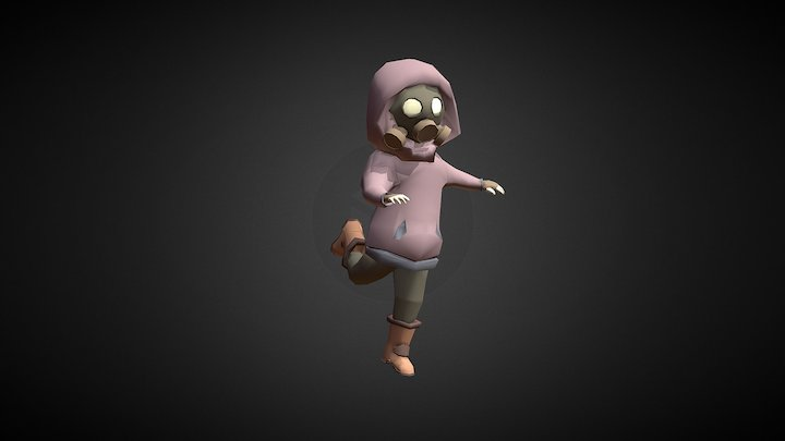 Gas-mask Character 3D Model