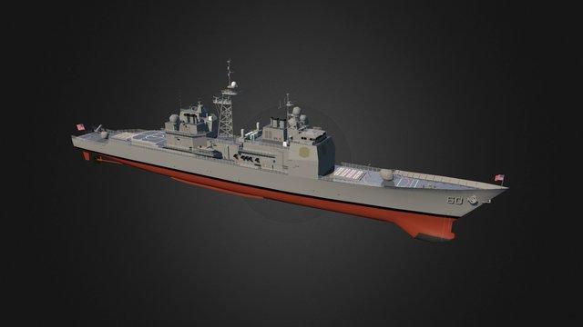 USS Normandy 3D Model