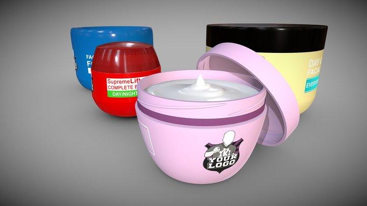Cosmetic Cream Tubs 3D Model