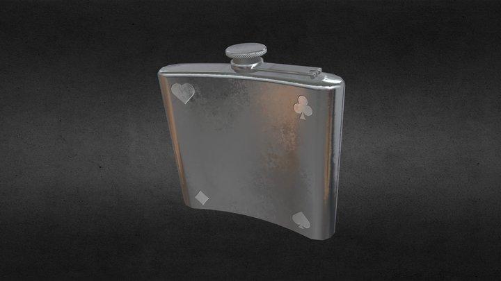 Gamblers hip flask 3D Model