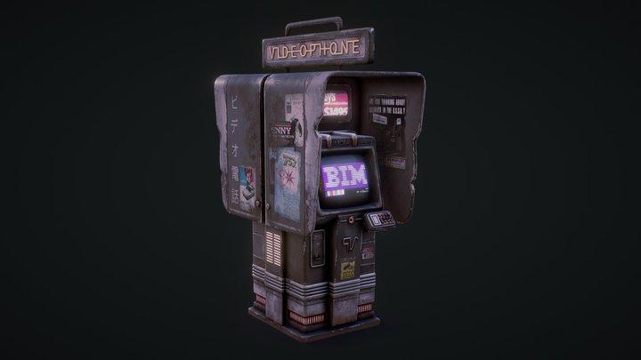 Cyberpunk Phone Booth 3D Model