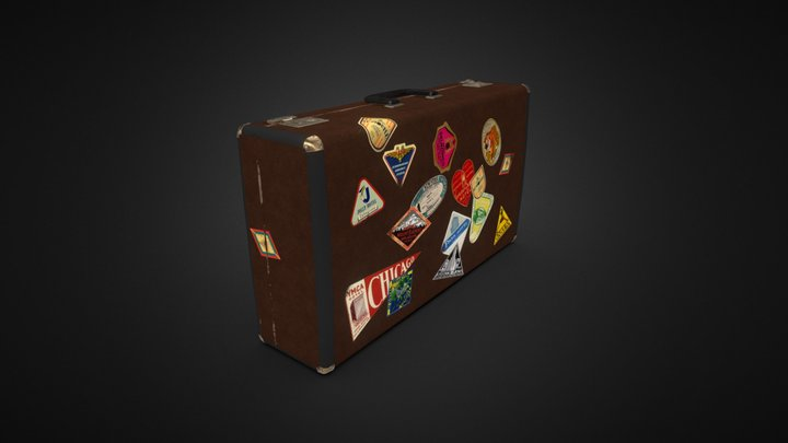 Old Luggage 3D Model