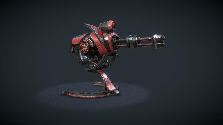 H8-X3 Plasma Minigun 3D Model