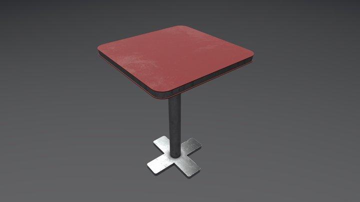 Diner/Bar Table 3D Model