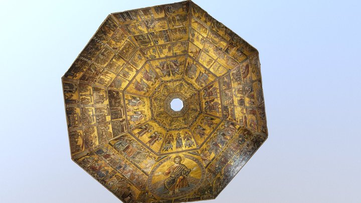 San Giovanni baptistery's dome (Florence) 3D Model