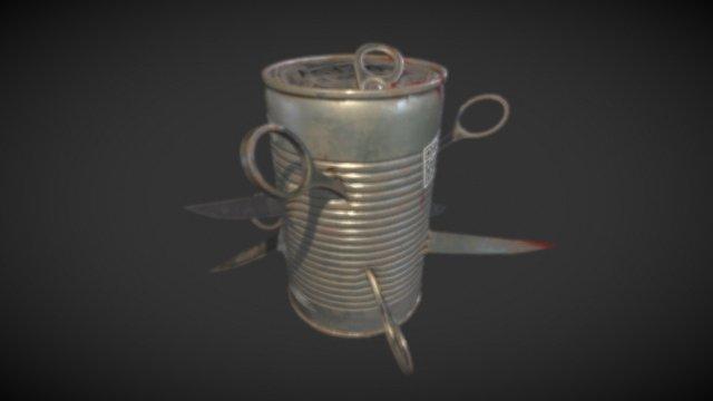 Scissor Bomb 3D Model