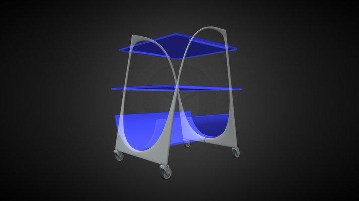 bar cart_Shiro 3D Model