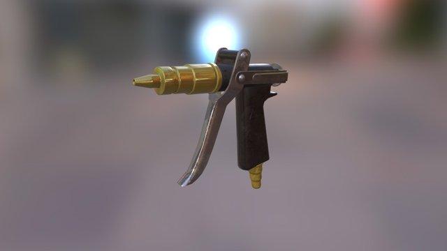 High Pressure Washer gun Tool Assignment 3D Model