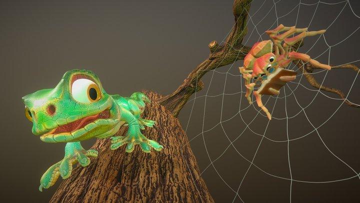 Scared Lizard 3D Model