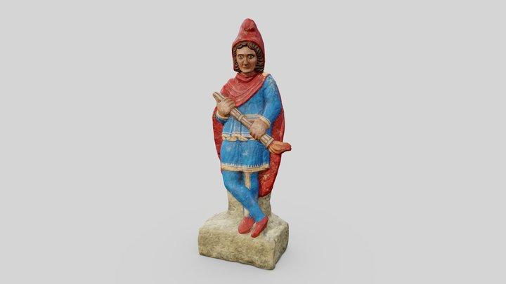 Cautopates Statue 3D Model