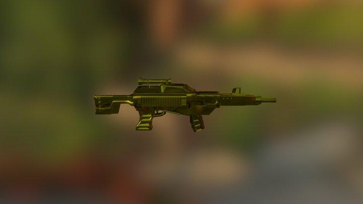 Retrogun 3D Model