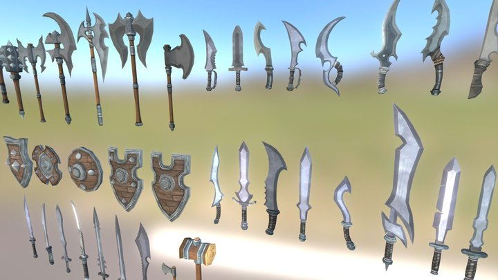 Fantasy Weapons Pack 3D Model