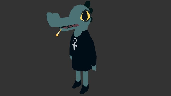 Bea - Night in the Woods 3D Model