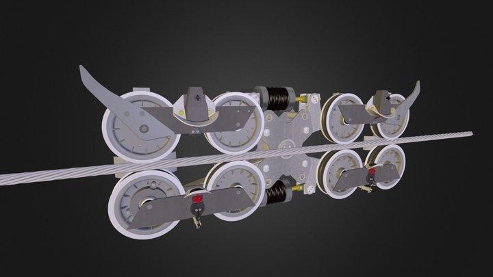 Balancier support-compression 3D Model