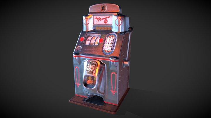 Retro slot machine 3D Model
