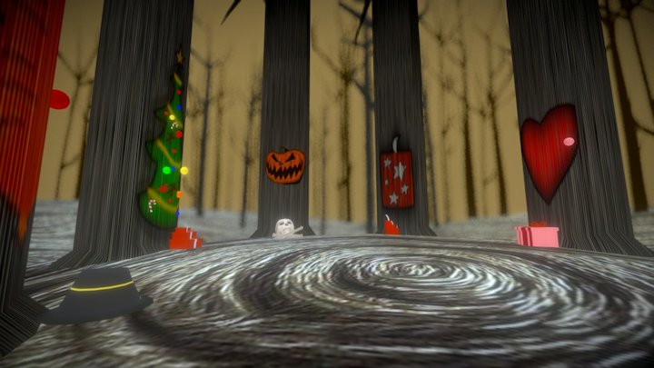 Nightmare Before Christmas Forest 3D Model