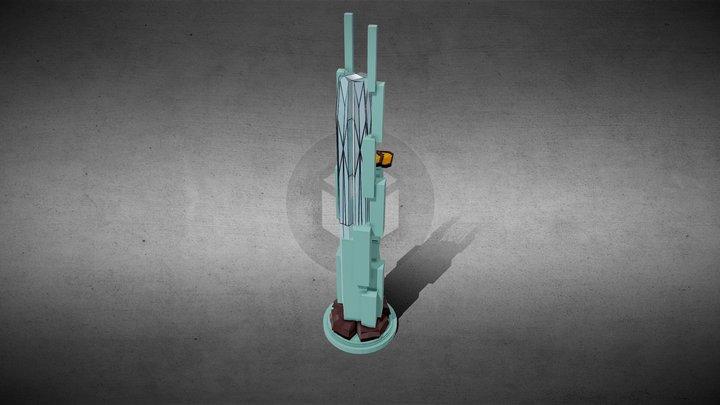 SciFI Building_40 3D Model