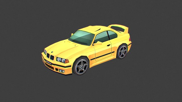 BMW E36 Low Poly - FREE DOWNLOAD 3D Model