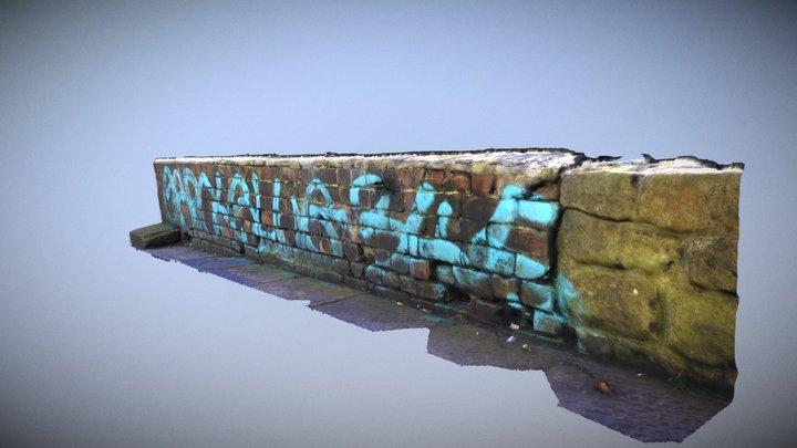 Newcastle Tyne Bridge Graffiti 3 3D Model