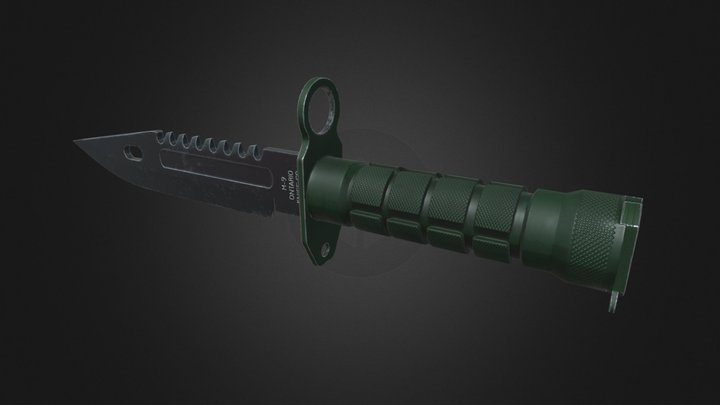 M9 Bayonet 3D Model
