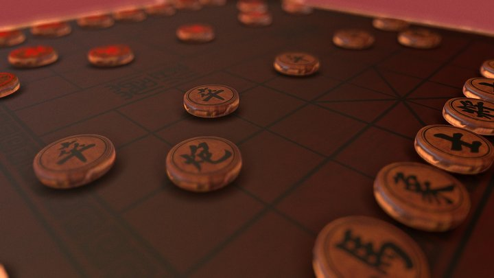 Chinese Chess 3D Model