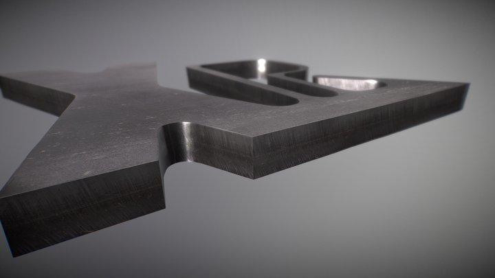 Schnittbeispiel in legiertem Stahl 3D Model