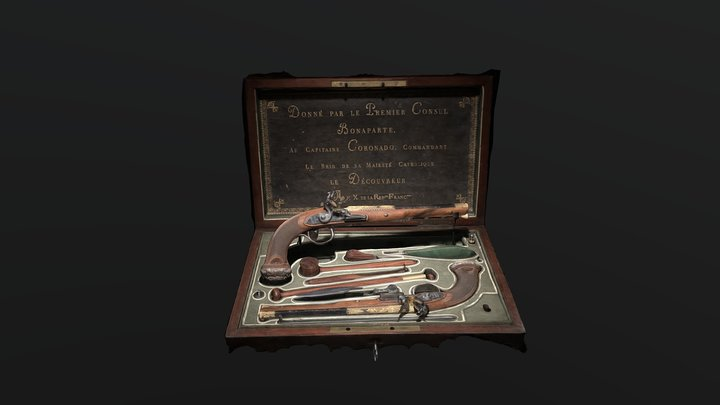 Pistols Given by first consul Bonaparte. 3D Model