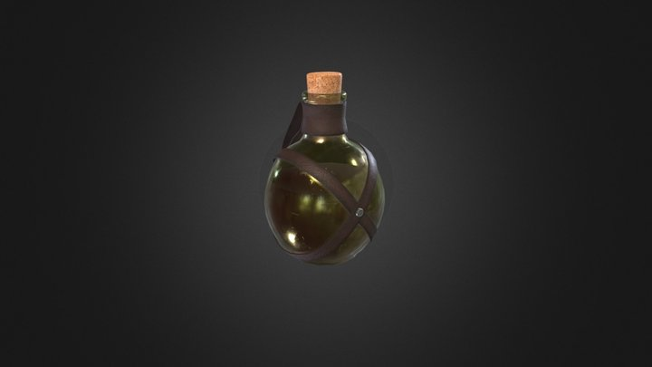 Flask with potion 3D Model
