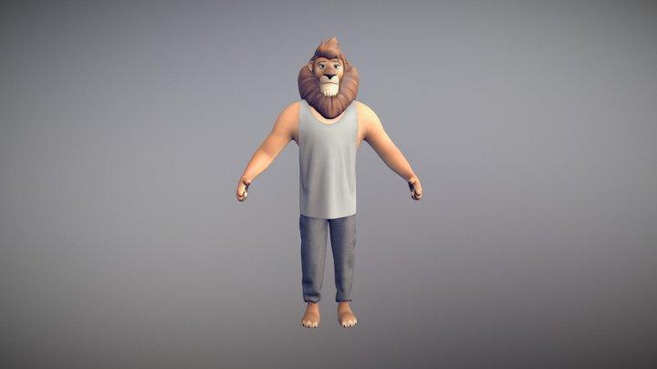 Sam the Lion 3D Model
