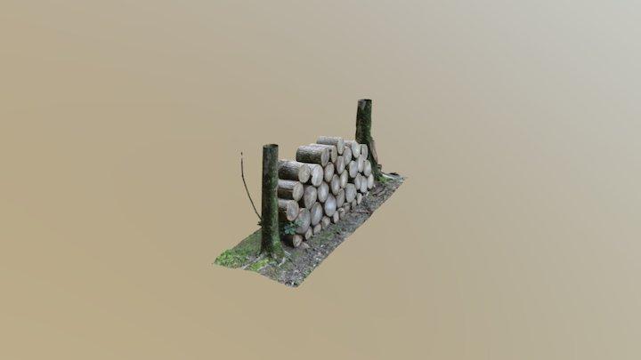 Wood Log Pile 3D Model