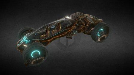 Futuristic Car Contest 3D Model