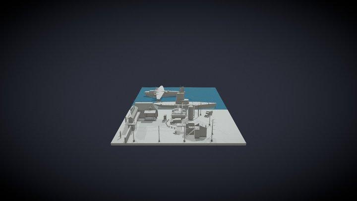 Commandos Scene 3D Model