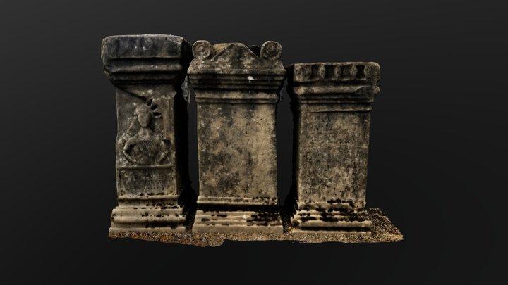 Carrawburgh Mithraeum Altars 3D Model