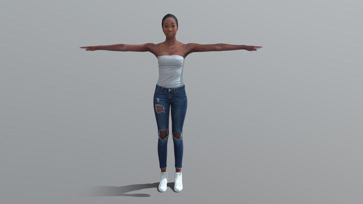 Alison-Rigged 3D Model