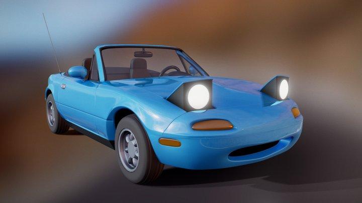 1990 Mazda Miata MX-5 NA (High-Poly) 3D Model