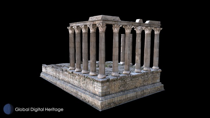Roman Temple of Evora 3D Model