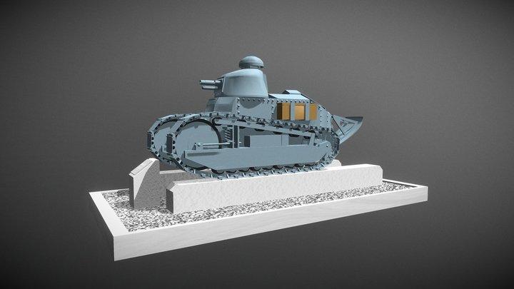 Renault - FT 17 3D Model