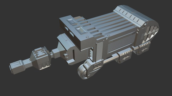 TCC (Transport Core Cannon) Blender 3D Model
