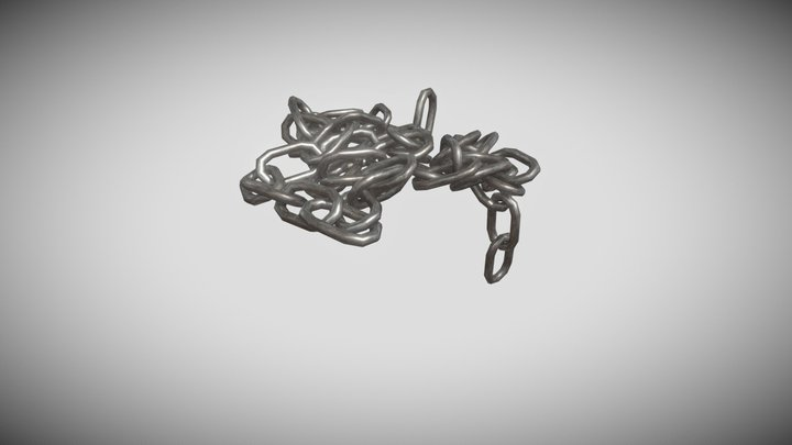 Heap of chains with dangled end 3D Model