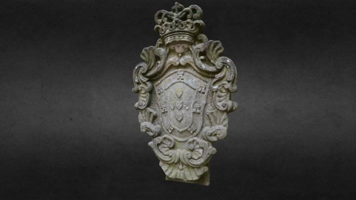 Brasão no Paço dos Condes de Barcelos 3D Model